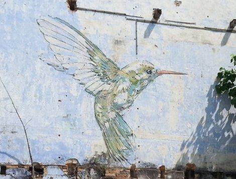 Humming bird mural in Ipoh