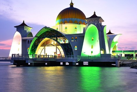Melaka Straits Mosque is also called Malacca Floating Mosque